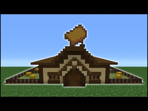 Minecraft Tutorial: How To Make A Horse Stables