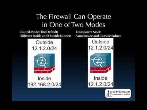 How to Configure Transparent Mode on a Cisco ASA Security Appliance:  Cisco ASA Training 101: