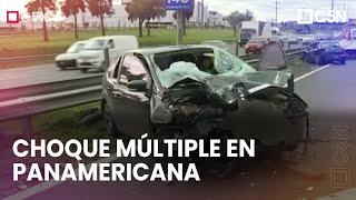 CHOQUE múltiple de CINCO AUTOS en PANAMERICANA: dos MUERTOS y dos HERIDOS GRAVES