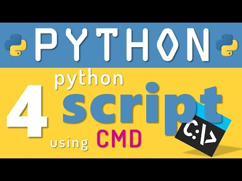 Python tutorial 4: How to Run Python Script using Command prompt by Manish Sharma