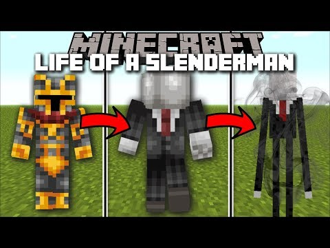Minecraft LIFE OF A SLENDERMAN BOSS MOD / FIGHT AND DEFEND THE BATTLE WITH SLENDERMAN!! Minecraft