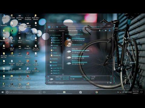 Windows 10 Transparent Theme Full glass | Customize Windows 10 | TechTutorials