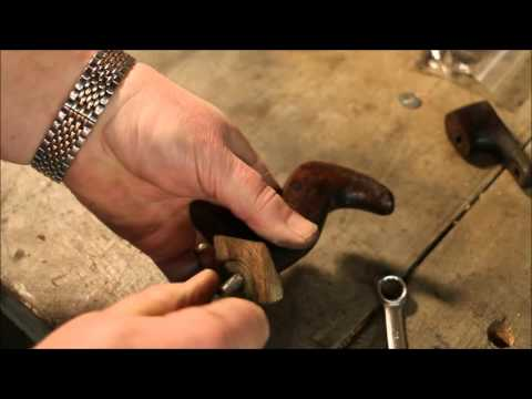 Repairing Broken Stanley Bailey #4 ~ Pt 4 ~ Handle Repair ~ by Old Sneelock's Workshop