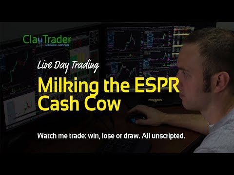 Live Day Trading – Milking the ESPR Cash Cow
