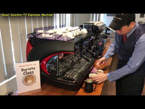 Making 2 Hot Chocolates with frothed Milk (Using the Royal Synchro T2 Coffee Machine)