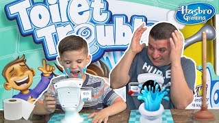 TOILET TROUBLE CHALLENGE!!! Spin, Flush, Uh Oh!