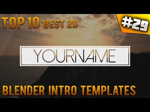 TOP 10 BEST Blender 2D intro templates #29 (Free download) - IntroFactory