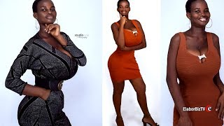 Download The extra ordinary hourglass shaped model from Ghana and Kenya Video