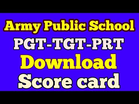 Download score card of Army Public School PGT-TGT-PRT, how to check score card of APS