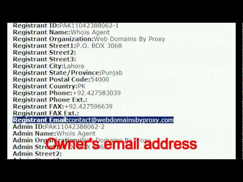 Website / IP address whois check with SHOW IP