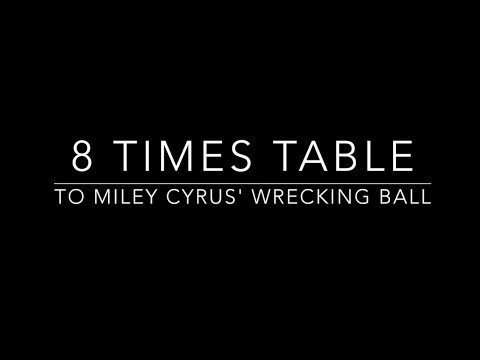8 times table set to Miley Cyrus' Wrecking Ball