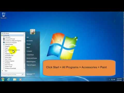 How to Take a Screenshot in Windows 7 and Save the File With Paint