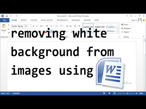 How To Remove White Background From Images - Microsoft Word