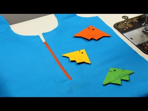 Fish Design for Kurti Step by Step Easy method, New Kurti designs 2018