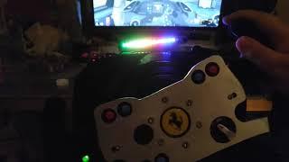 My Custom Made Ferrari Rim and Rev Light for Thrustmaster Wheel