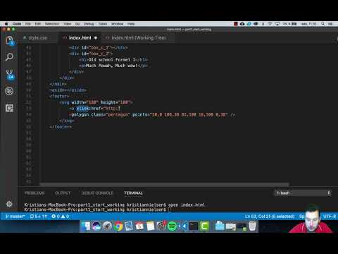 Creating a website | S02E19 | SVG a href (link)