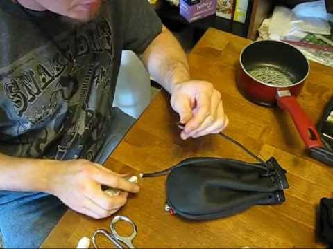 Making a leather possibles pouch