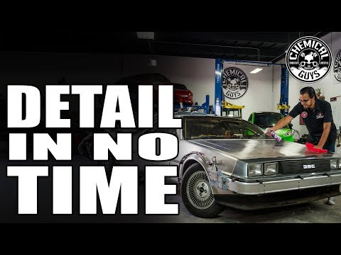 Outta Time Detail | Back To The Detail Garage! - DMC -12 Delorean - Chemical Guys Car Care