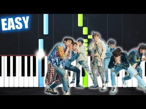 BTS (방탄소년단) 'FAKE LOVE' - EASY Piano Tutorial by PlutaX