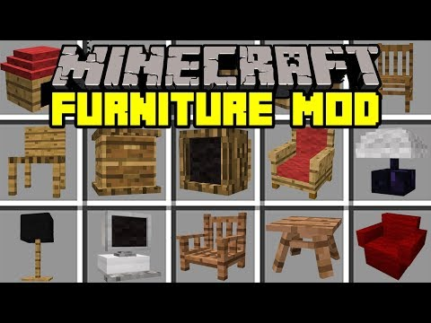 Minecraft FURNITURE MOD! | BUILD AND DECORATE YOUR HOUSE! | Modded Mini-Game