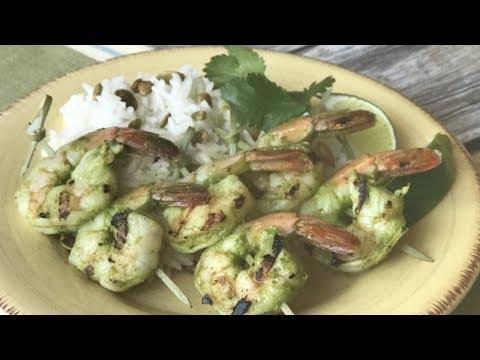 Cilantro Lime Pesto Shrimp
