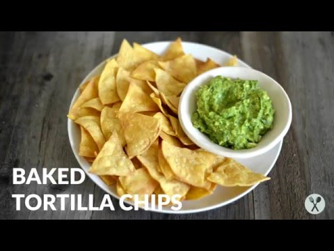 How to Make Baked Tortilla Chips | gluten free, 4 ingredients