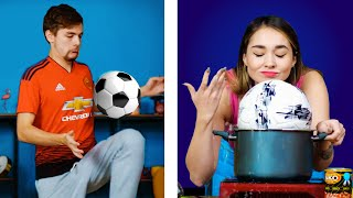 WHEN YOUR BOYFRIEND IS ADDICTED TO FOOTBALL || 5-Minute FUN