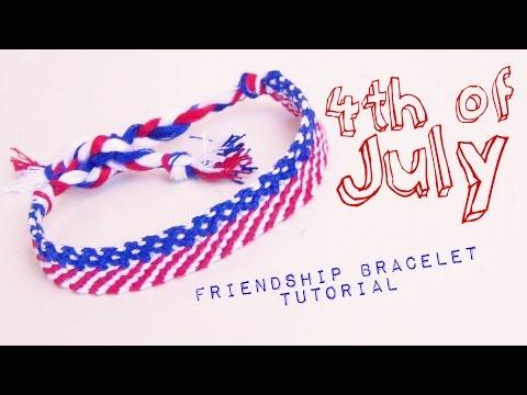 4th of July Friendship Bracelet ♥ How to Make Friendship Bracelets