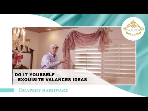 Video #19: Do It Yourself Drapes | Window Treatment Ideas With Venetian Scrolls | DIY Drapery