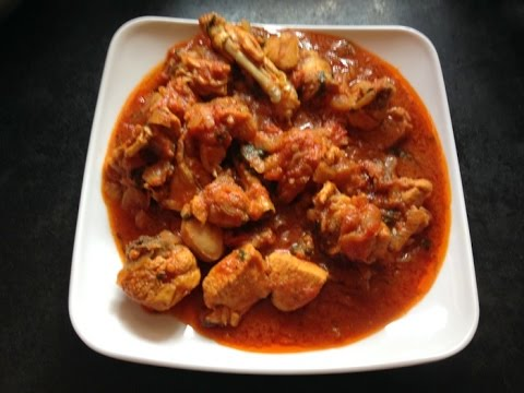 Spicy Onion Tomato Chicken Red Gravy Curry Recipe -  Indian Street Food Cooking Chicken Curry