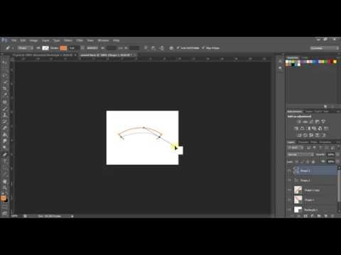 drawing curved lines in photoshop