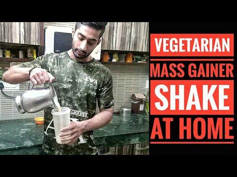 Vegetarian Mass Gaining Shake At Home - Gain Weight the easy way