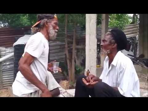 Two Jamaican Rasta Arguing