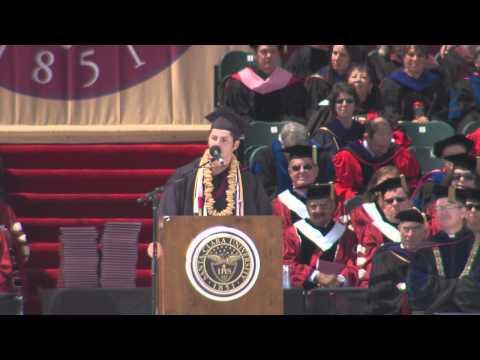 Brandi Chastain speaks to Santa Clara University Class of 2014