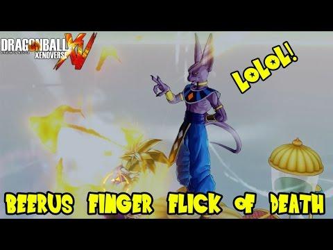 Dragon Ball Xenoverse Online: Beerus God of Destruction Finger Flick of Death