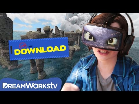 Ride Toothless with Oculus Rift | THE DREAMWORKS DOWNLOAD