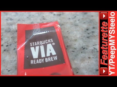 Starbucks Via Ready Brew Instant Coffee Packets For Single Serve Cup or Mug of Regular or Decaf
