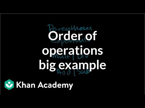 Order of operations example: putting it all together | Pre-Algebra | Khan Academy
