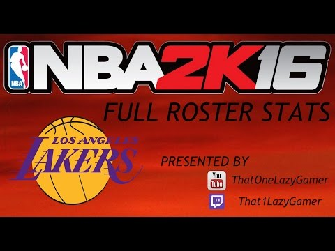 NBA 2K16 Full Roster Stats