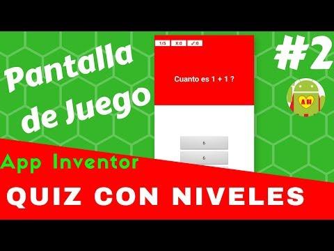 Pantalla de Juego Quiz Con Niveles  # 2 | Tutoriales App Inventor | App Movil