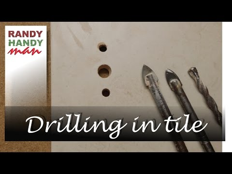 Drilling hole in ceramic tile. How to make a hole in a tile. What drill to use.