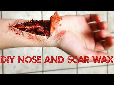www.monstertutorials.com - Easy DIY Nose and Scar Wax tutorial with bonus cut