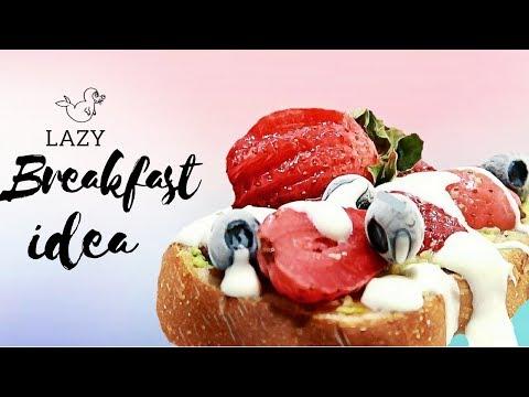 LAZY BREAKFAST IDEA   Avocado Sweet Potato Toast ⍣Easy, Quick & Healthy 🍓  #TheWickeRmoss