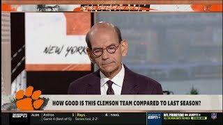 ESPN FIRST TAKE - Paul Finebaum DEBATE: How good is the Clemson team compared to last season?