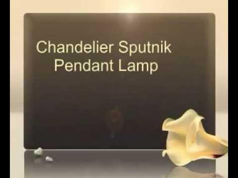 Chandelier Sputnik Pendant Lamp 36/24 sockets silver.wmv