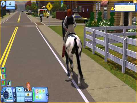 Sims 3 Pets - First time Riding a Horse