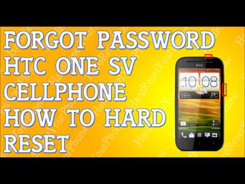 Forgot Password HTC One SV How To Hard Reset