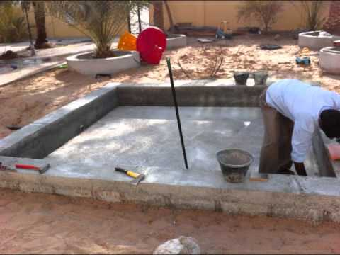 how to build mini swimming pool