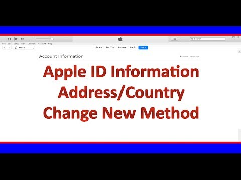 How to Change Apple ID Address & Country 2019