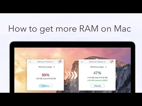 Memory Cleaner - Get more RAM on Mac